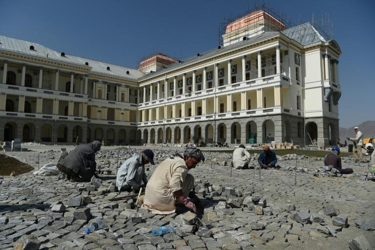 Afghan President Ashraf Ghani will inaugurate the once-ruined Darulaman Palace this month (AFP Photo/WAKIL KOHSAR)