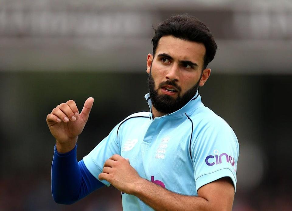 Saqib Mahmood was forced off with an apparent side strain (Nigel French/PA) (PA Wire)