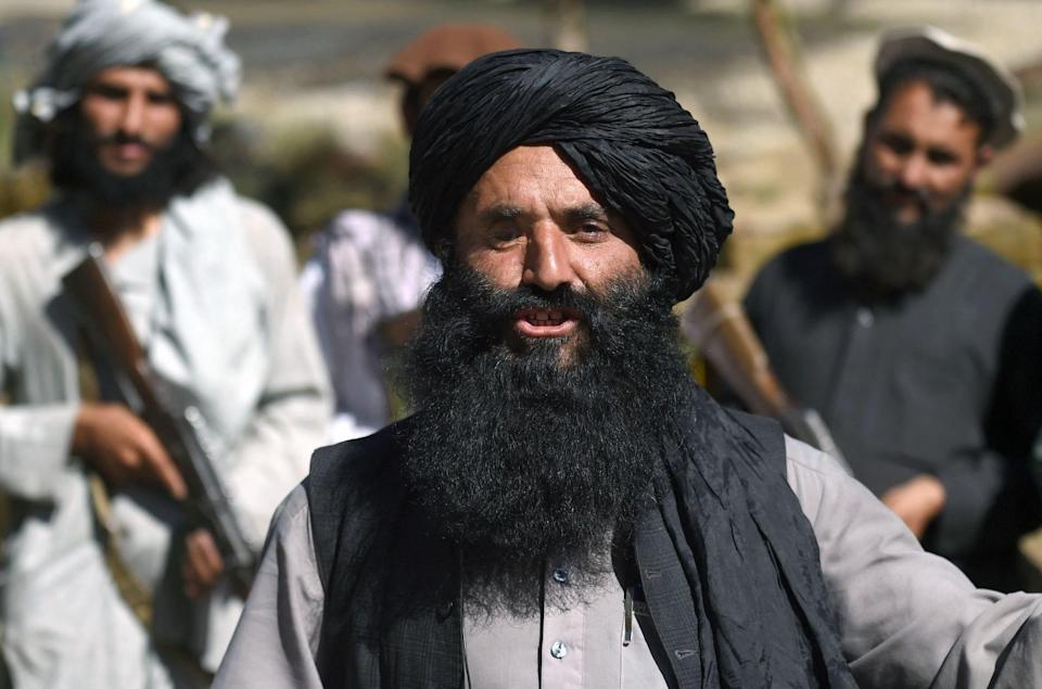 A Taliban military commander with a long beard