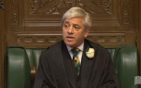 Commons Speaker John Bercow speaks in the House of Commons, London, as MPs gather to pay tribute to Labour MP Jo Cox