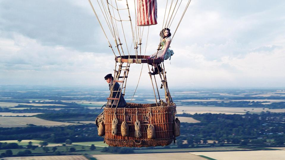 """<p>Afraid of heights? Well, imagine making the journey to fly in an air ballon higher than anyone has ever flown. In 1862, a scientist and widow make a trip that they may or may not survive.</p> <p><a href=""""https://www.amazon.com/Aeronauts-Felicity-Jones/dp/B08CS5YS37/ref=sr_1_1?crid=2SUDH4UGHFR9O&dchild=1&keywords=the+aeronauts&qid=1608336111&s=instant-video&sprefix=the+aer%2Cinstant-video%2C288&sr=1-1"""" rel=""""nofollow noopener"""" target=""""_blank"""" data-ylk=""""slk:Available to stream on Amazon Prime"""" class=""""link rapid-noclick-resp""""><em>Available to stream on Amazon Prime</em></a></p>"""