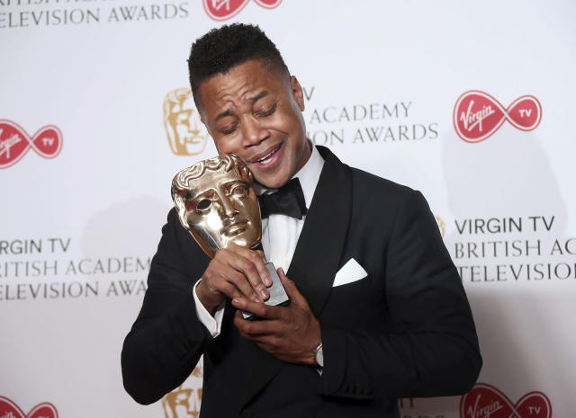 "<p>Actor Cuba Gooding Jr poses with the award for best International show for ""The People vs O.J. Simpson: American Crime Story"" at the British Academy Television Awards at the Royal Festival Hall in London, Sunday, May 14, 2017. (Photo: Joel Ryan/Invision/AP) </p>"
