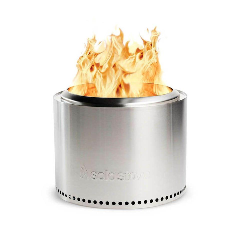 """<p><strong>2834 Reviews</strong></p><p>solostove.com</p><p><strong>$284.99</strong></p><p><a href=""""https://go.redirectingat.com?id=74968X1596630&url=https%3A%2F%2Fwww.solostove.com%2Fsolo-stove-bonfire%2F&sref=https%3A%2F%2Fwww.elledecor.com%2Fshopping%2Fg34576509%2Felle-decor-editors-gift-guide-2020%2F"""" rel=""""nofollow noopener"""" target=""""_blank"""" data-ylk=""""slk:Shop Now"""" class=""""link rapid-noclick-resp"""">Shop Now</a></p><p>I've been coveting one of these Solo Bonfire stoves ever since I experienced one on a chilly night outdoors at a friend's house in Maine. The cool stainless steel design maximizes warmth while minimizing smoke. It would be just the thing for entertaining outdoors which will come in handy this winter. And of course I also need the add-on Roasting Sticks for making s'mores in my garden.</p><p>- <em>Ingrid Abramovitch, Executive Editor</em></p>"""