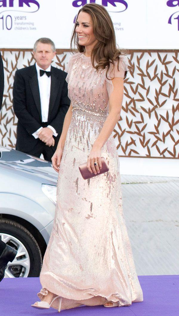 <p>The Duchess took the public's collective breath away in a pink Jenny Packham dress at the ARK Gala dinner at Kensington Palace.</p>