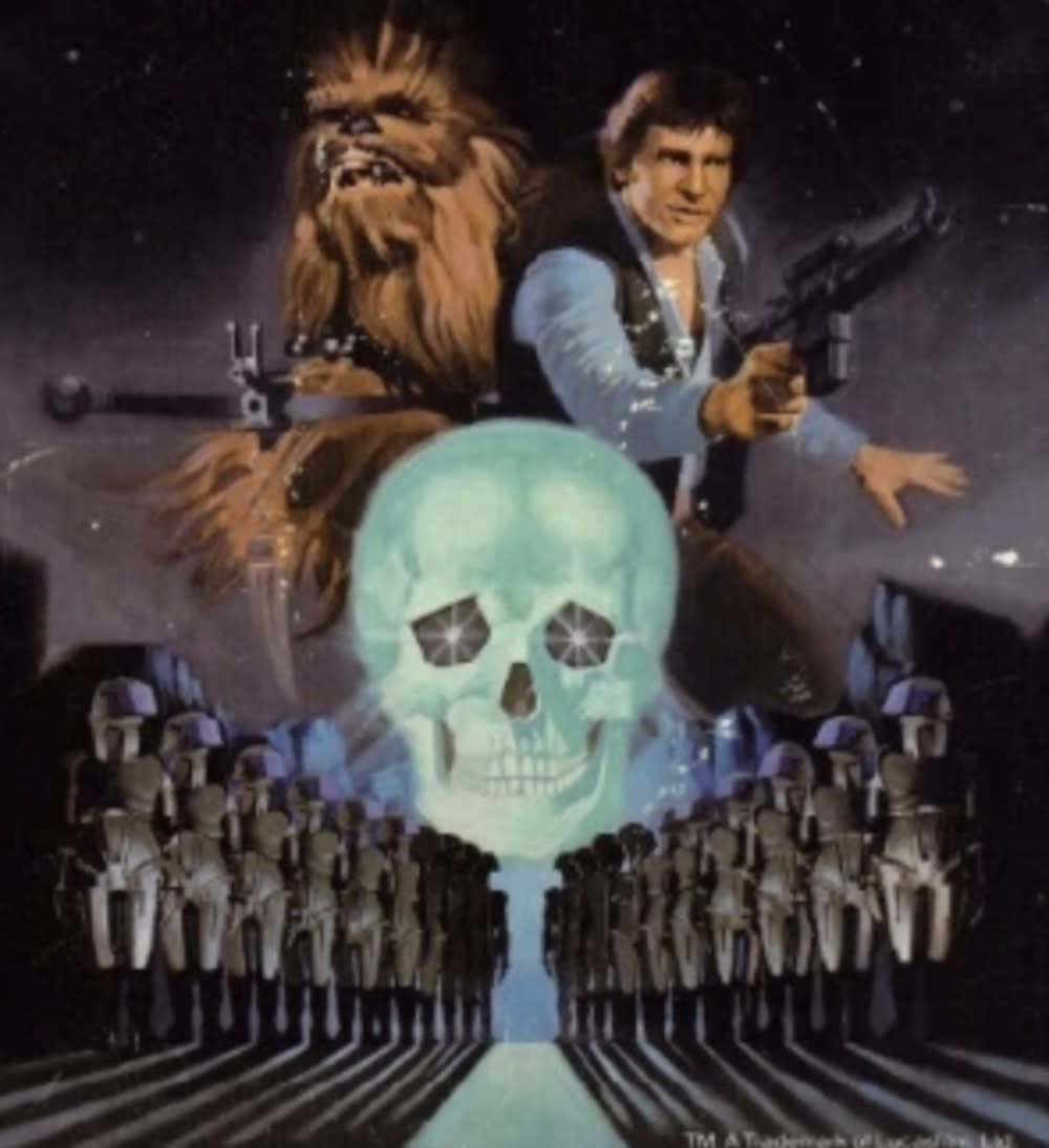 Detail of the <i>Han Solo and the Lost Legacy</i> featuring a familiar crystal skull. (Image: Del Rey)