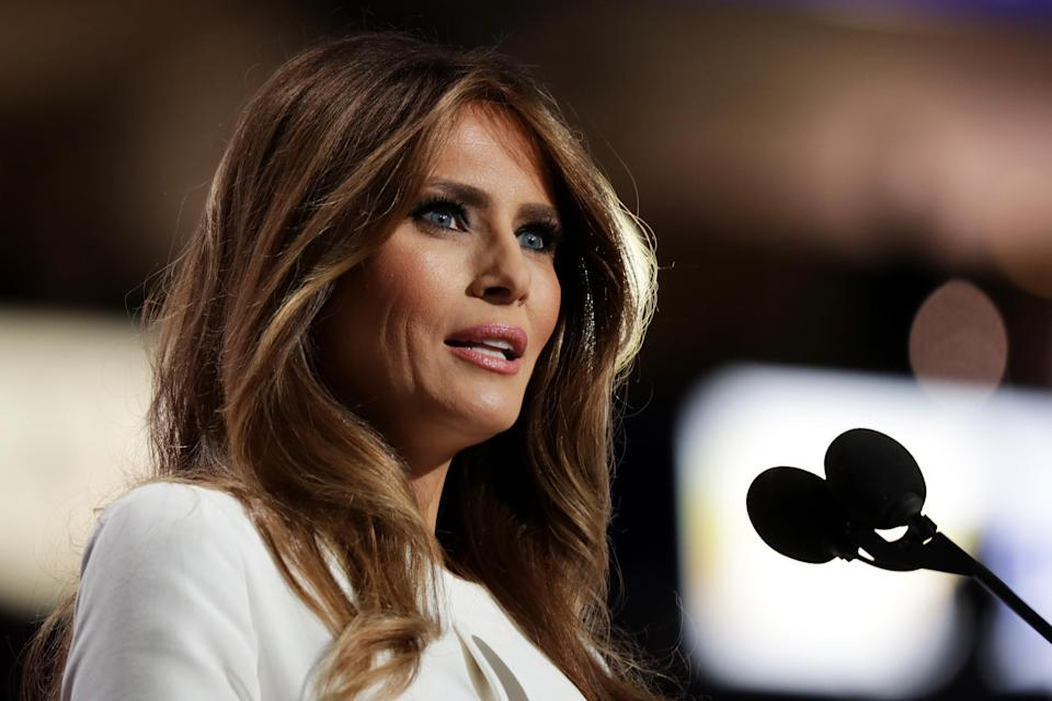 <p>A former aide is claiming Melania Trump plans to divorce her husband after he leaves the White House</p> (Chip Somodevilla/Getty Images)