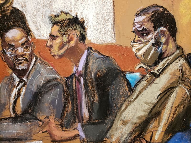 R Kelly appears during a court hearing