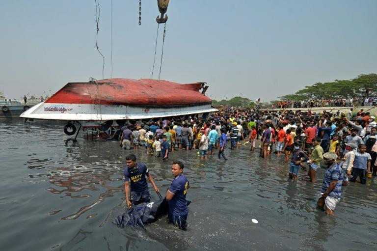 More bodies were recovered from the sunken ferry after it was lifted from the river on Monday