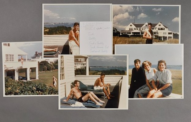 """A collection of Kennedy family photos taken in 1956 at Hyannis, Mass. <a href=""""http://www.mcinnisauctions.com/"""" rel=""""nofollow noopener"""" target=""""_blank"""" data-ylk=""""slk:(Photo courtesy of John McInnis Auctioneers)"""" class=""""link rapid-noclick-resp"""">(Photo courtesy of John McInnis Auctioneers)</a>"""