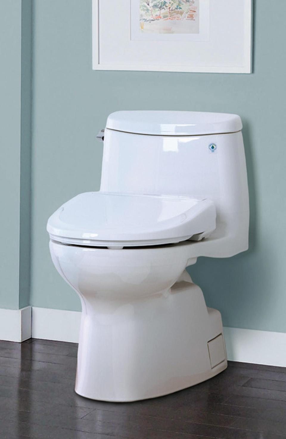 This photo provided by TOTO shows a Washlet S350 high tech toilet. The company began marketing the Washlet in Japan in 1980. Now 74 percent of Japanese households have toilets of the high-tech persuasion, making them more common there than home computers. (AP Photo/TOTO)