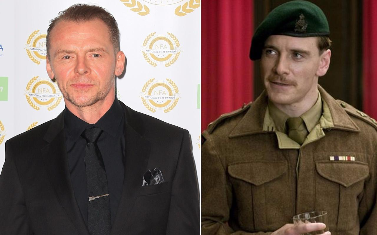 <p>'Shaun of the Dead' star Pegg was poised to British spy Archie Hickox in Quentin Tarantino's history-rewriting WW2 movie, but pulled out to play Mr Scott in JJ Abrams' 'Star Trek.' Pegg has called it the hardest decision of his career; Michael Fassbender ultimately took the role. (Picture credit: WENN, The Weinstein Company) </p>