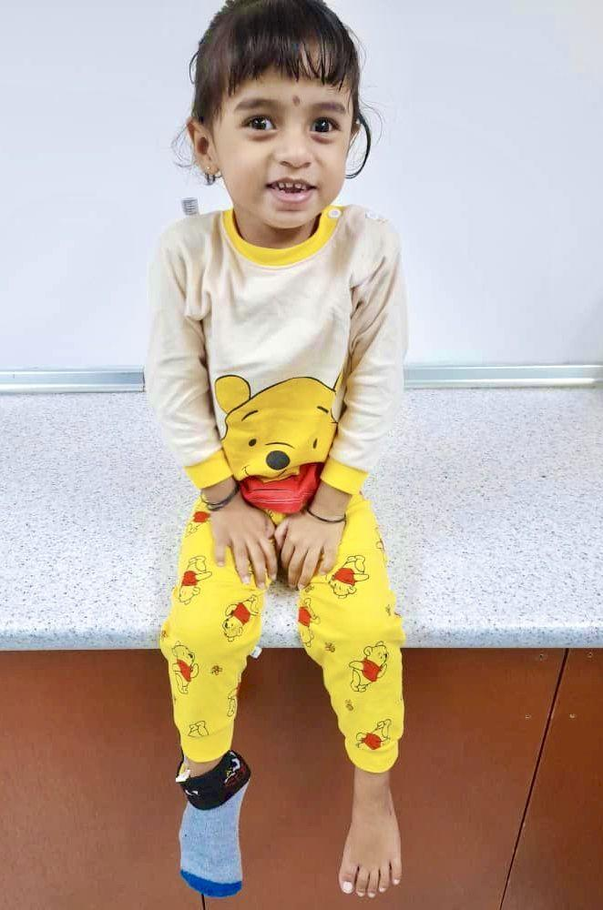 Swathi has to stick to a rigorous treatment schedule to help her body cope with Pompe disease. — Picture courtesy of Sivasangaran Kumaran