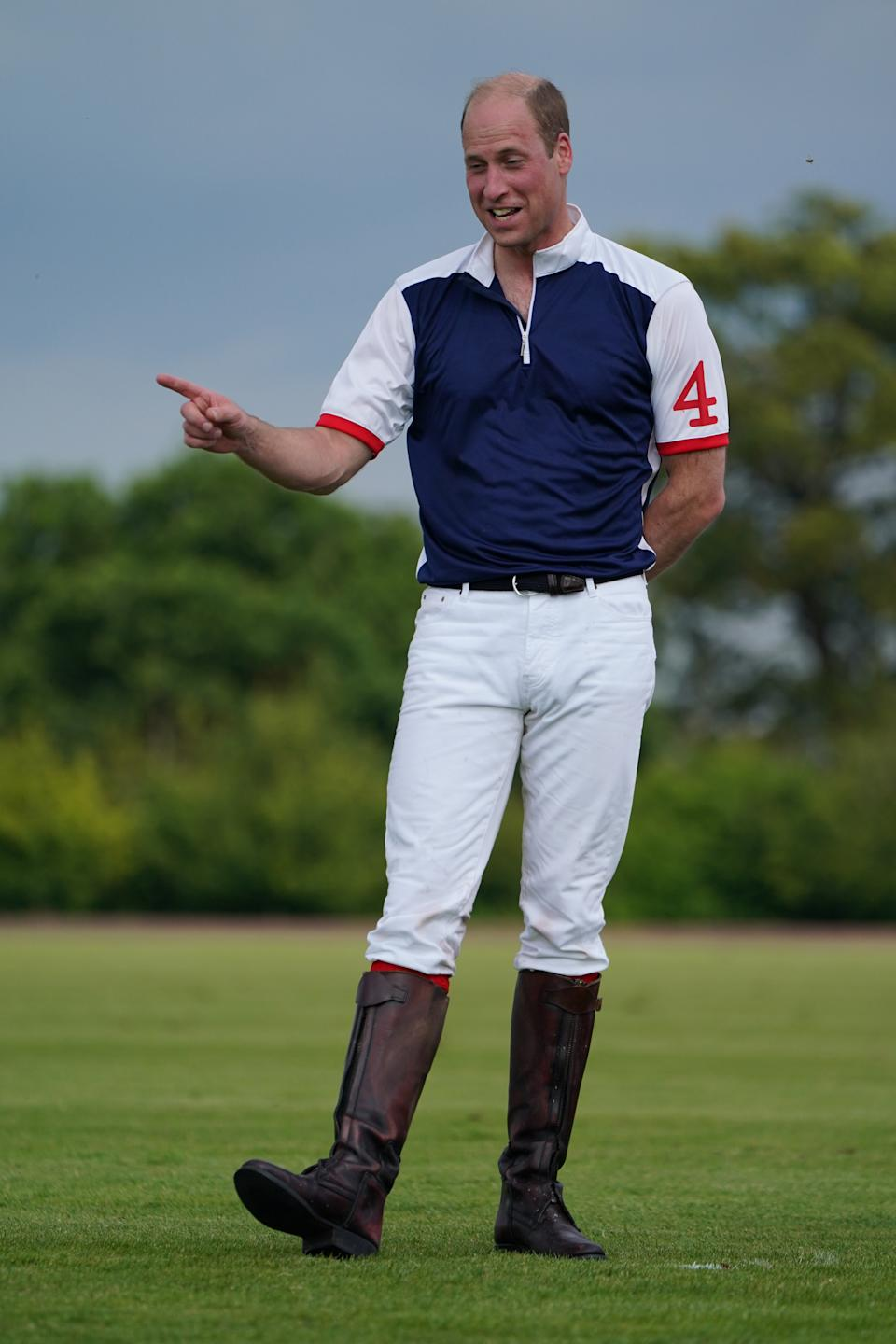 The Duke of Cambridge after taking part in the Out-Sourcing Inc Royal Charity Polo Cup 2021 at Guards Polo Club, Windsor, which will help raise funds and awareness for charities supported by the Duke and Duchess of Cambridge. Picture date: Friday July 9, 2021.