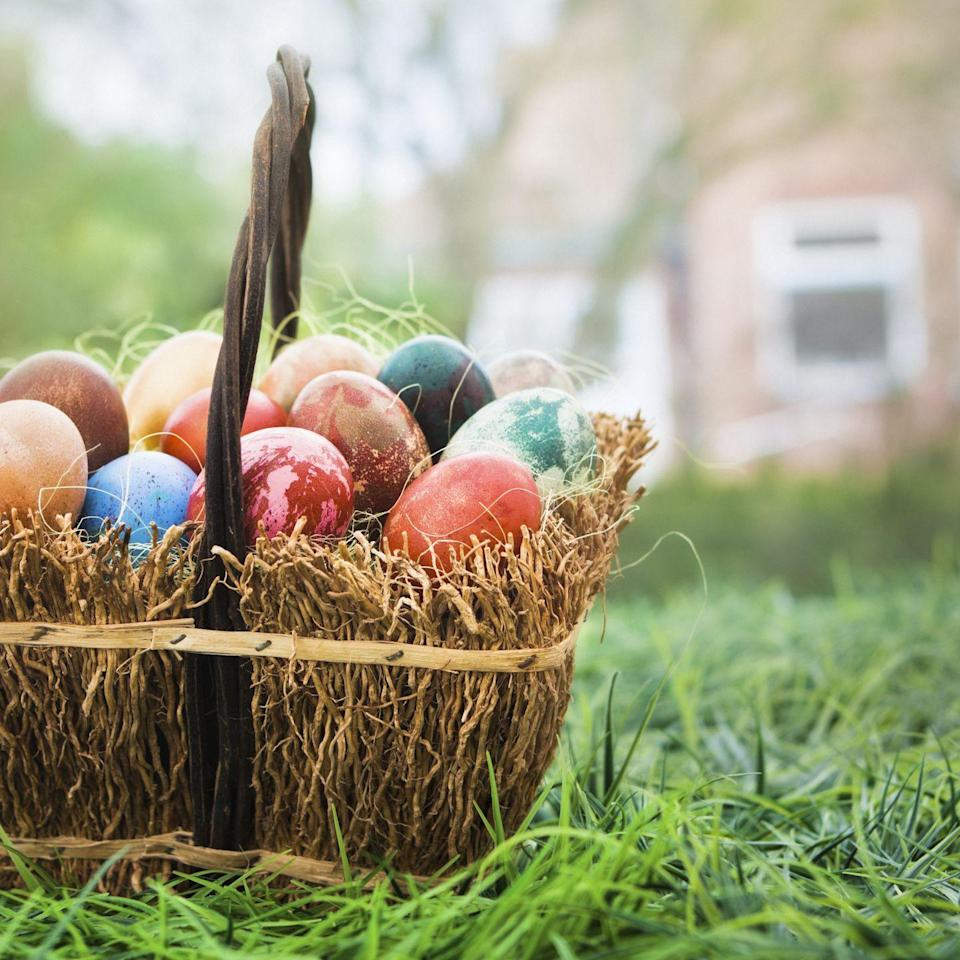 "<p>The woven containers <a href=""https://blogs.scientificamerican.com/anthropology-in-practice/whats-the-meaning-of-easter-baskets/"" rel=""nofollow noopener"" target=""_blank"" data-ylk=""slk:represent"" class=""link rapid-noclick-resp"">represent</a> nests and new life, especially when filled to the brim with eggs. Plus, they're a pretty utilitarian way to c0llect goodies on your <a href=""https://www.goodhousekeeping.com/holidays/easter-ideas/g31346137/indoor-easter-egg-hunt-ideas/"" rel=""nofollow noopener"" target=""_blank"" data-ylk=""slk:Easter egg hunt"" class=""link rapid-noclick-resp"">Easter egg hunt</a>. </p><p><strong>RELATED: </strong><a href=""https://www.goodhousekeeping.com/holidays/easter-ideas/a32080456/virtual-easter-egg-hunts/"" rel=""nofollow noopener"" target=""_blank"" data-ylk=""slk:How to Host a Virtual Easter Egg Hunt While Social Distancing"" class=""link rapid-noclick-resp"">How to Host a Virtual Easter Egg Hunt While Social Distancing</a></p>"