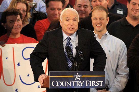 "This isn't such a bad slogan, especially considering McCain's admirable war record and the relative inexperience of his opponent, Barack Obama. But after McCain's ""Hail Mary pass"" of selecting Alaska Governor Sarah Palin as his running mate, the slogan seemed to many voters to be at odds with McCain's actions."