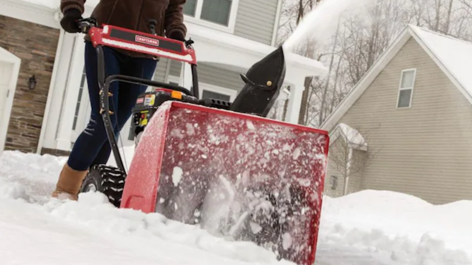 The Craftsman has an affordable price tag while still offering the same benefits of more expensive two stage snow blowers.