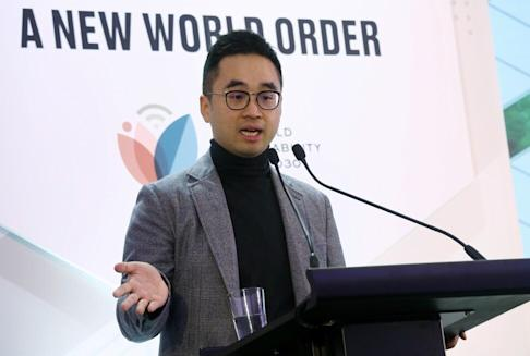 Executive Vice-chairman Adrian Cheng Chi-kong attends a sustainability forum in January 2020. Photo: Jonathan Wong