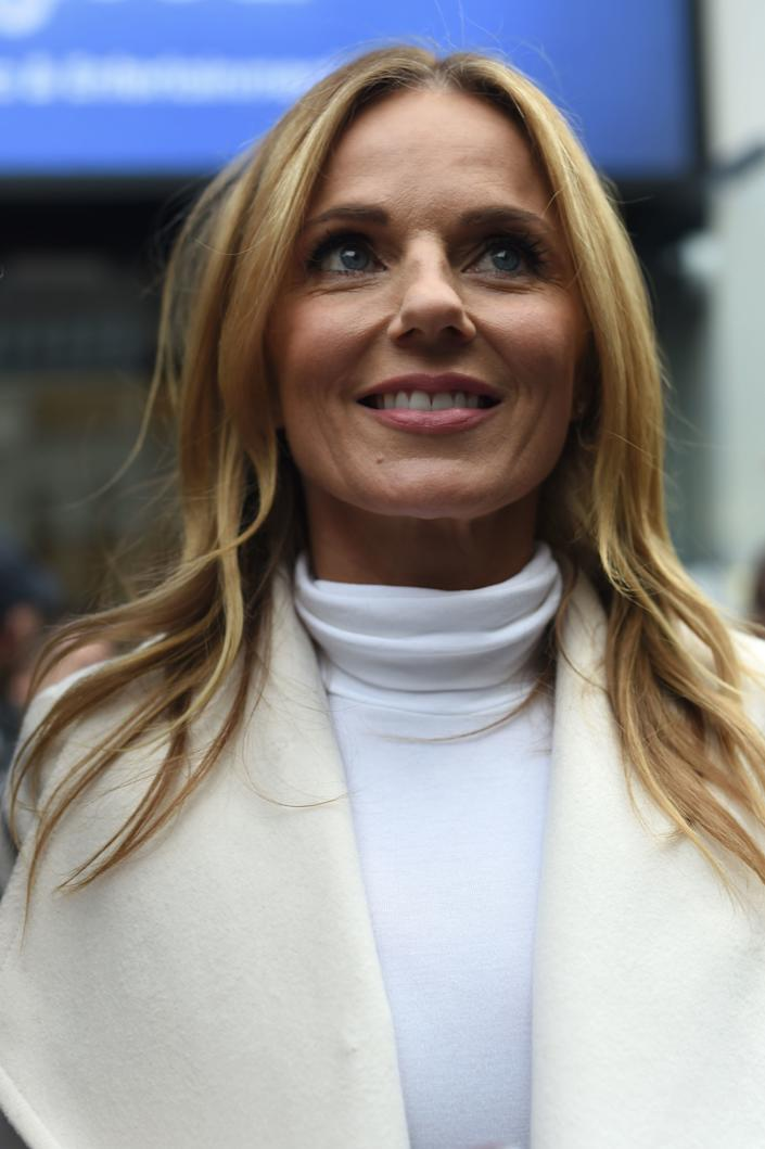 Spice Girls Geri Horner leaving Global Radio studios in Leicester Square, London.