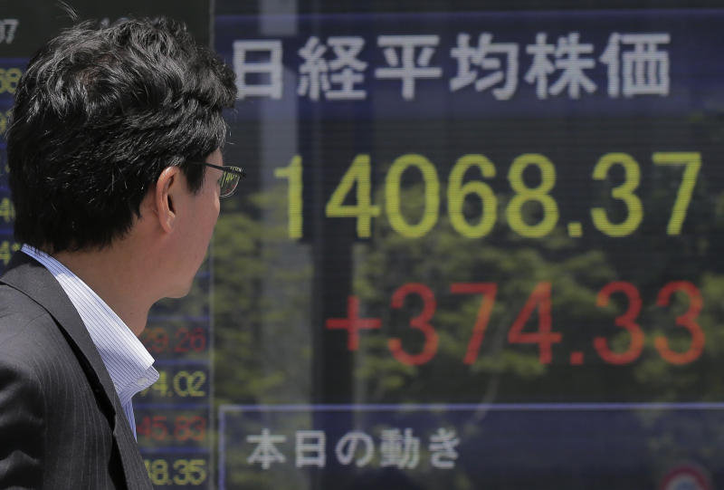Asia stocks rise after Wall Street hits record