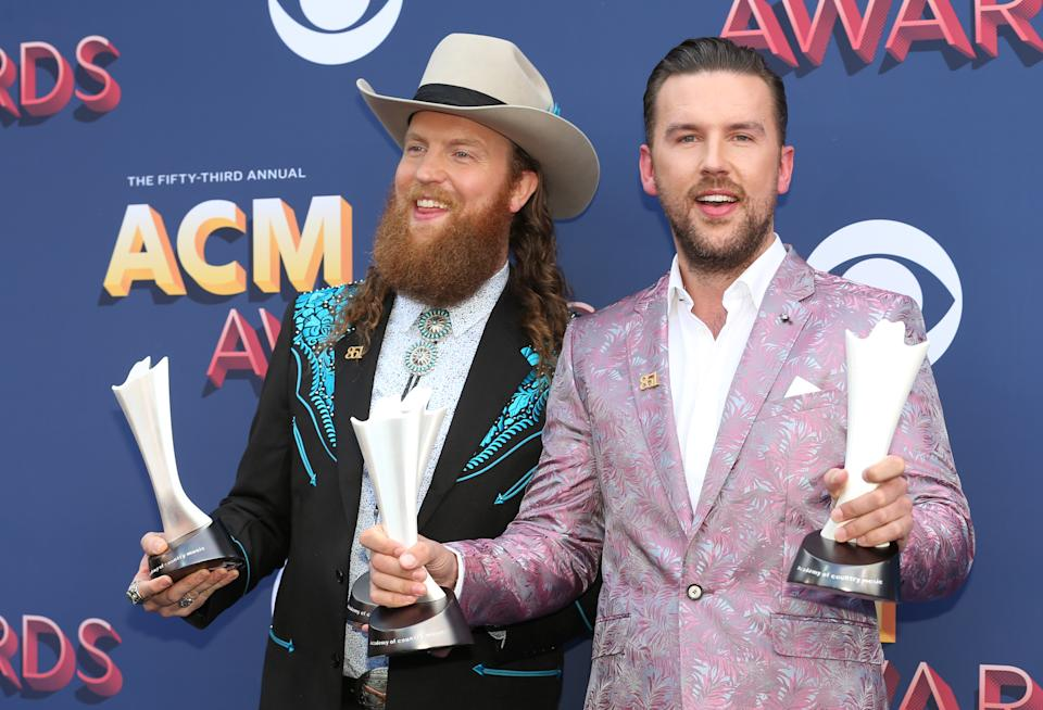 John and T.J. Osborne of Brothers Osborne at the 53rd Academy of Country Music Awards.