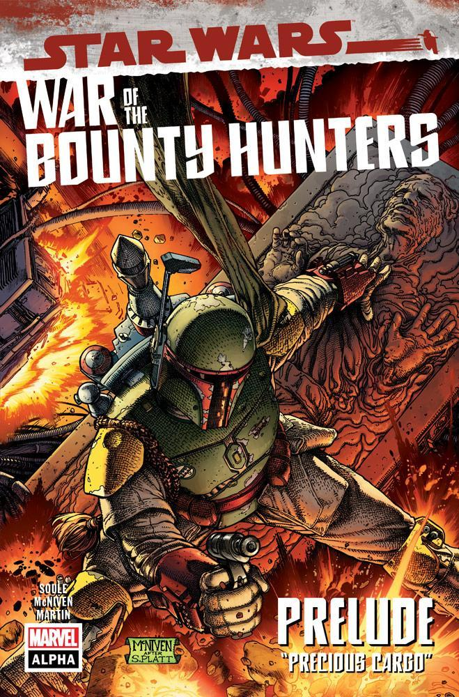Star Wars: War of the Bounty Hunters comic cover