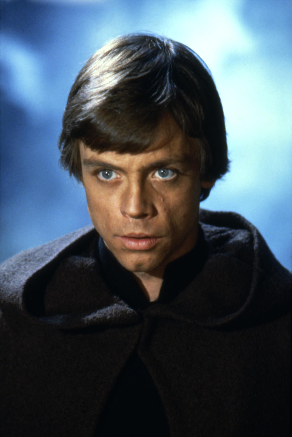 American actor Mark Hamill on the set of Star Wars: Episode VI - Return of the Jedi directed by Welsh Richard Marquand. (Photo by Sunset Boulevard/Corbis via Getty Images)