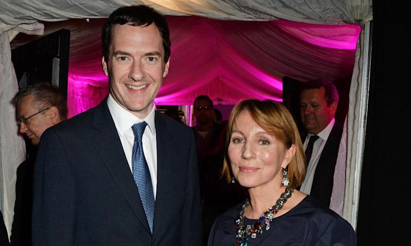 George Osborne and former Evening Standard editor Sarah Sands.