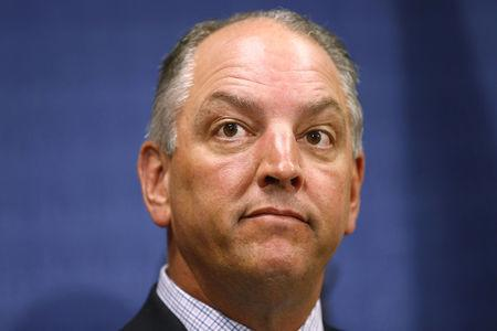 FILE PHOTO: Louisiana Governor John Bel Edwards speaks during a news conference in Baton Rouge, Louisiana, U.S. July 10, 2016.  REUTERS/Jonathan Bachman