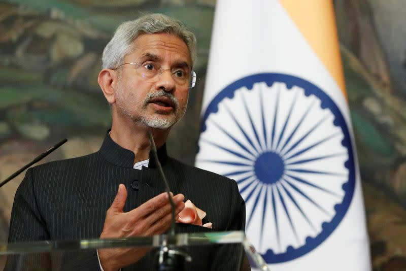 Russia's Foreign Minister Sergei Lavrov meets his Indian counterpart Subrahmanyam Jaishankar in Moscow