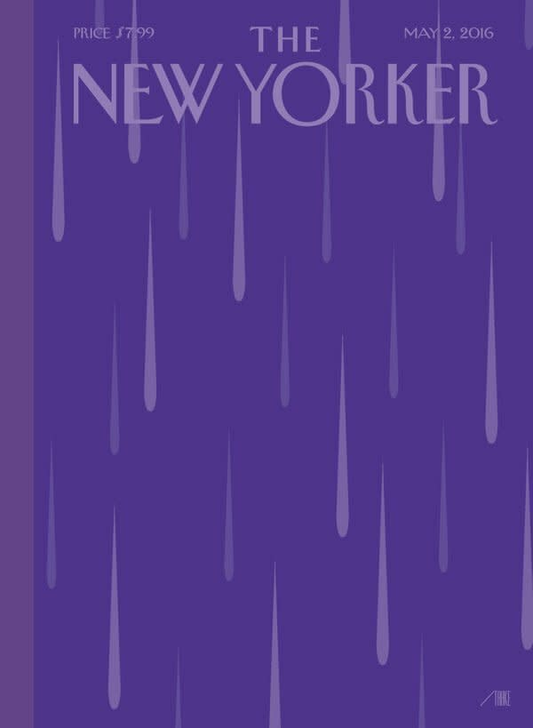 <p>And the purple won't stop after just one night. Here's a look at the magazine's cover for next week. <i>(Photo: Twitter)</i></p>