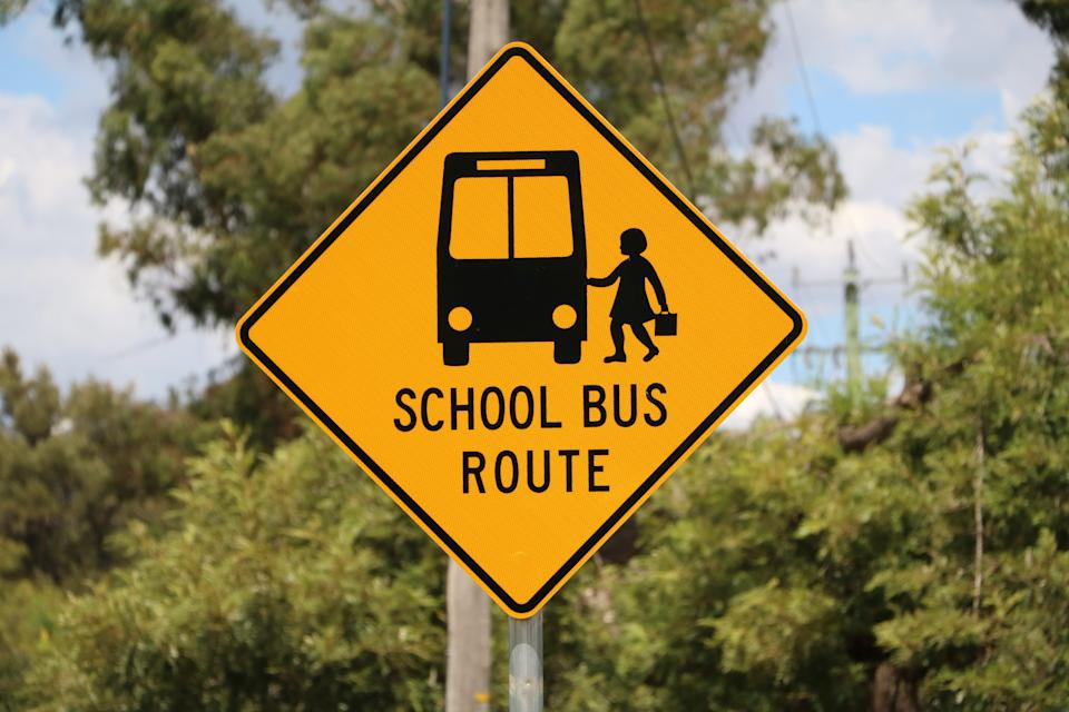 School Bus Route sign. Source: Getty Images