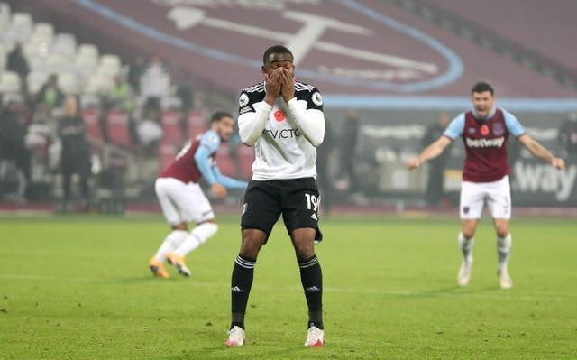 Fulham forward Ademola Lookman covers his face in disbelief after dramatically fluffing a Panenka-style penalty. The poorly-executed spot-kick was the final action of a 1-0 defeat at West Ham in November. Scott Parker's Cottagers endured a disappointing season following promotion, with their relegation back to the Sky Bet Championship confirmed with three games remaining