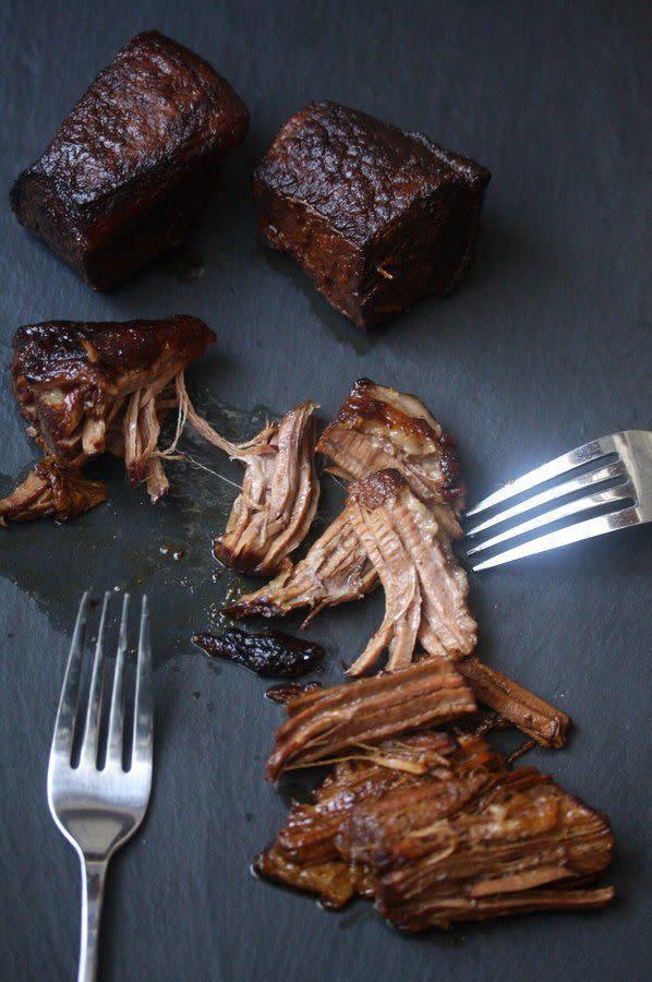 <strong>Get the <span>Slow Cooker Brisket recipe</span>fromFeed Me Phoebe</strong>