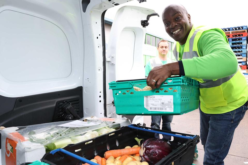<p>Conservative Mayoral Candidate Shaun Bailey volunteers at the Felix Project depot in West London</p> (Nigel Howard)