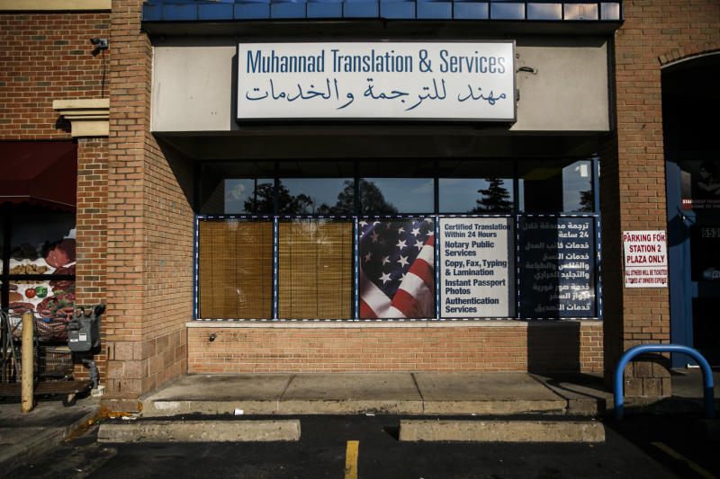 A storefront in Dearborn. (Sean Proctor for HuffPost)