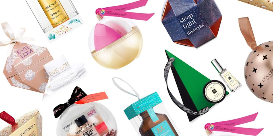 """<p>We've rounded up the best <a rel=""""nofollow noopener"""" href=""""http://www.elleuk.com/beauty/make-up/beauty-tips/g31076/the-best-beauty-advent-calendars-liberty-asos-jo-malone-diptyque/"""" target=""""_blank"""" data-ylk=""""slk:beauty-inspired Christmas advent calendars"""" class=""""link rapid-noclick-resp"""">beauty-inspired Christmas advent calendars</a> and <a rel=""""nofollow noopener"""" href=""""http://www.elleuk.com/beauty/news/g32246/best-beauty-christmas-cracker/"""" target=""""_blank"""" data-ylk=""""slk:beauty-packed Christmas crackers"""" class=""""link rapid-noclick-resp"""">beauty-packed Christmas crackers</a>, but now, it's the baubles' time to shine - and this year, they're packed with even bigger, better goodies. </p><p>Housing everything from luxury perfume to skincare, stylist-approved hair treatments to make-up must-haves, even big name brands like By Terry and Jo Malone have jumped on the bauble bandwagon, which means you'd be silly not to get involved, too. </p><p>So, whether you're looking for something to gift a loved-one or simply want to treat yourself (it <em>is </em>Christmas, after all), check out our pick of the best Christmas beauty baubles and tree decorations out there right now.</p>"""