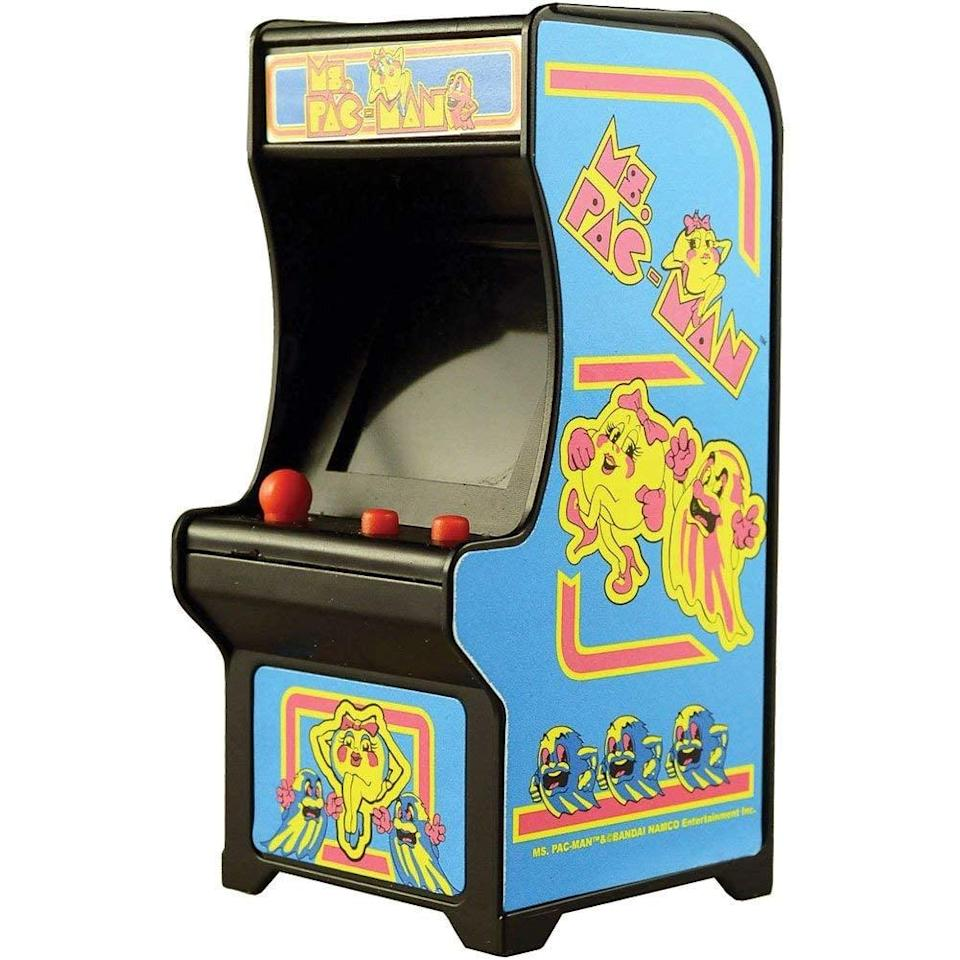 <p>This <span>Super Impulse Ms Pac-Man Classic Tiny Arcade Game </span> ($17) can fit in the palm of your hand - seriously!</p>