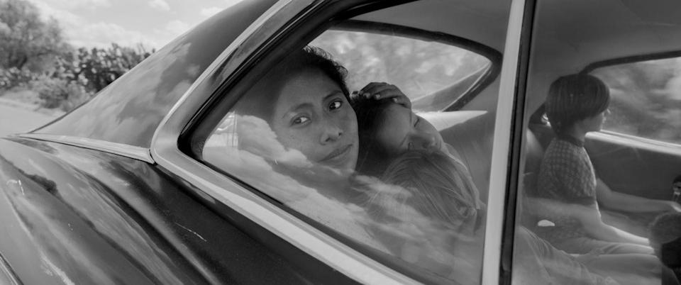 "<p>Alfonso Cuarón's gorgeous autobiographical film follows Cleo (Oscar nominee Yalitza Aparicio), a live-in maid for a middle-class Mexico City family, throughout one year as both her life and the lives of her employers are changed forever.</p><p><a class=""link rapid-noclick-resp"" href=""https://www.netflix.com/watch/80240715?trackId=13752289&tctx=0%2C0%2Cf62b6297-b4c0-4faa-898c-4f13c202c894-89993769%2C%2C"" rel=""nofollow noopener"" target=""_blank"" data-ylk=""slk:Watch Now"">Watch Now</a></p>"