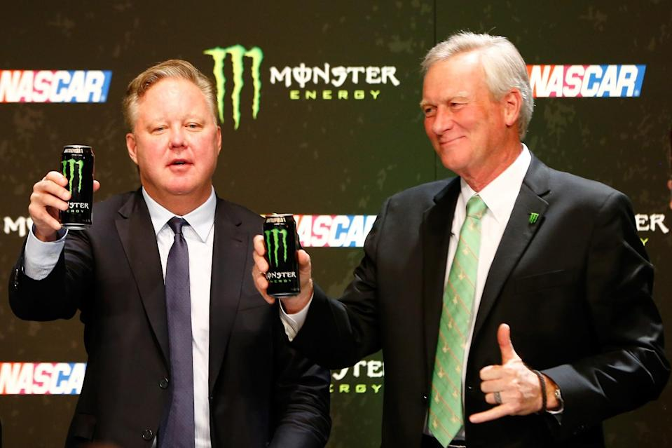 Monster is succeeding Sprint as the Cup Series' title sponsor. (Getty)