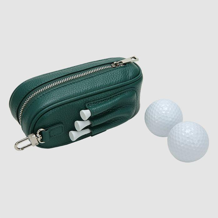"""<p><strong>The Daily Edited</strong></p><p>thedailyedited.com</p><p><strong>$80.00</strong></p><p><a href=""""https://www.thedailyedited.com/pine-green-pebbled-golf-kit"""" rel=""""nofollow noopener"""" target=""""_blank"""" data-ylk=""""slk:Shop Now"""" class=""""link rapid-noclick-resp"""">Shop Now</a></p><p>This luxury leather case will last dad years and with free monogramming gives it just the right personal touch.</p>"""