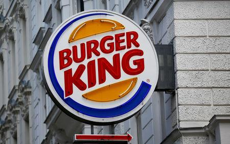 FILE PHOTO: The logo of Burger King is seen outside a shop in Vienna