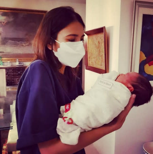 Alessandra with her niece, Julia
