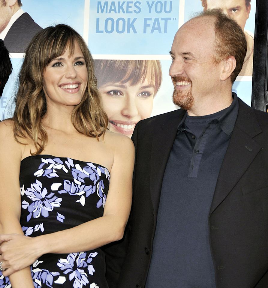 """<a href=""""http://movies.yahoo.com/movie/contributor/1800338890"""">Jennifer Garner</a> and <a href=""""http://movies.yahoo.com/movie/contributor/1804383508"""">Louis C.K.</a> at the Los Angeles premiere of <a href=""""http://movies.yahoo.com/movie/1810022054/info"""">The Invention of Lying</a> - 09/21/2009"""