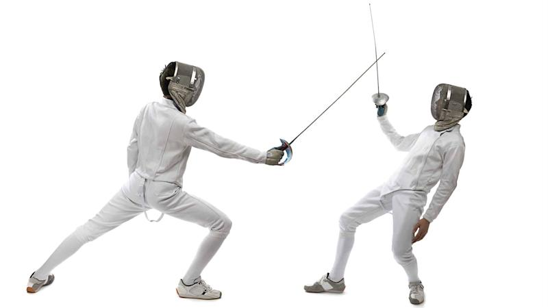 defensive, sword, fencing, fight