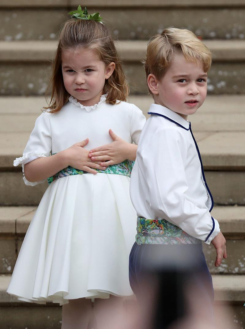 Princess Charlotte served as a bridesmaid at the wedding, while Prince George was a page boy.
