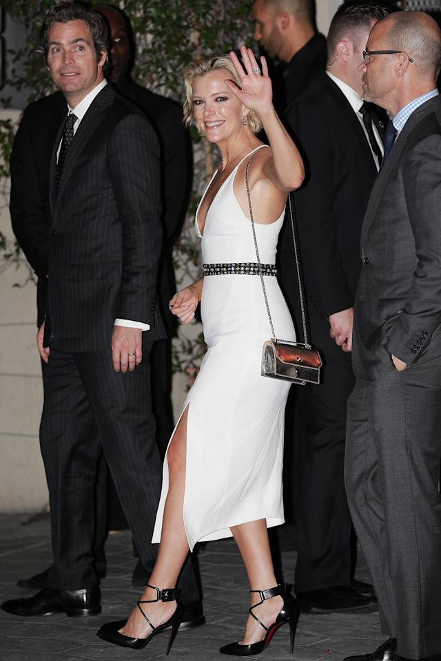<p>Megyn Kelly at the CAA Golden Globes afterparty, showing some major skin. (Photo: W Blanco / AKM-GSI) </p>