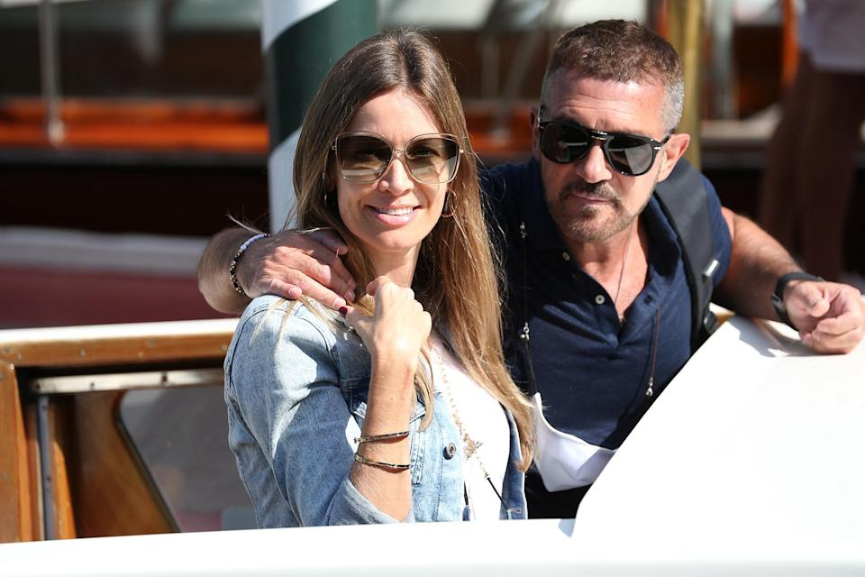 <p>Antonio Banderas and girlfriend Nicole Kimpel arrived together on Sept. 3. </p>