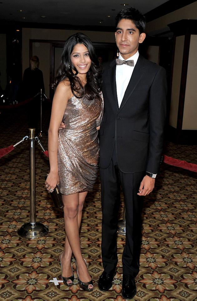"""<a href=""""http://movies.yahoo.com/movie/contributor/1810042390"""">Freida Pinto</a> and <a href=""""http://movies.yahoo.com/movie/contributor/1810042384"""">Dev Patel</a> at the 61st Annual Directors Guild of America Awards in Los Angeles - 01/31/2009"""