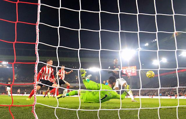 John Fleck netted from a rebound to open the scoring at Bramall Lane (Danny Lawson/PA)
