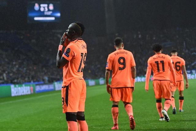 Against Porto, Sadio Mane stepped out of the shadows of team-mates Mo Salah and Firmino (AFP Photo/Francisco LEONG)